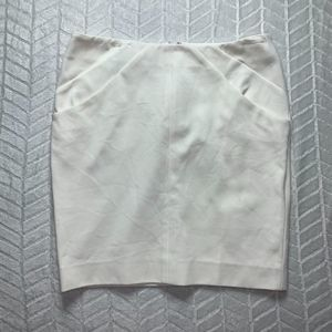 Diane von furstenberg white pencil skirt 8